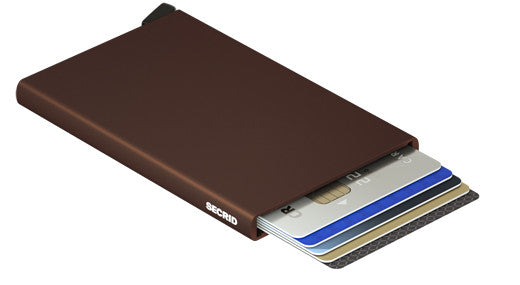 Card Protector-Brown RFID Secure Card Wallet-AUTHORIZED DEALER