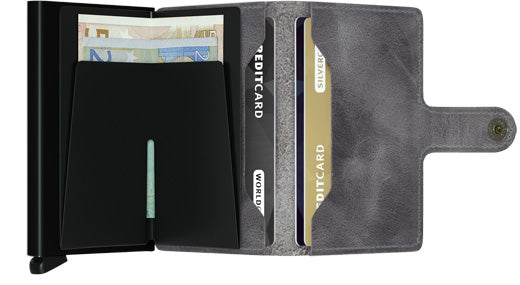 Secrid Miniwallet Vintage Grey-Black Wallet RFID