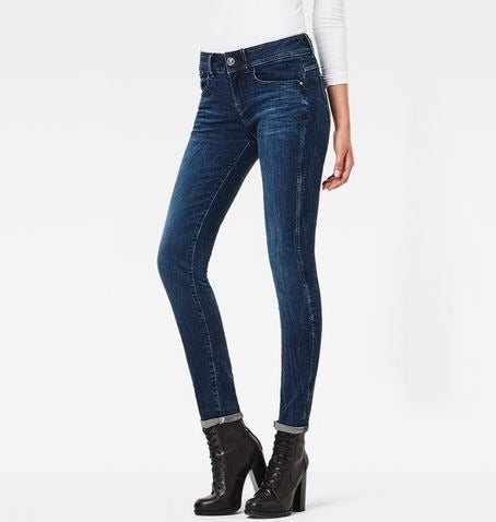 G-Star LYNN MID SKINNY Jeans Dark Aged Women's Denim