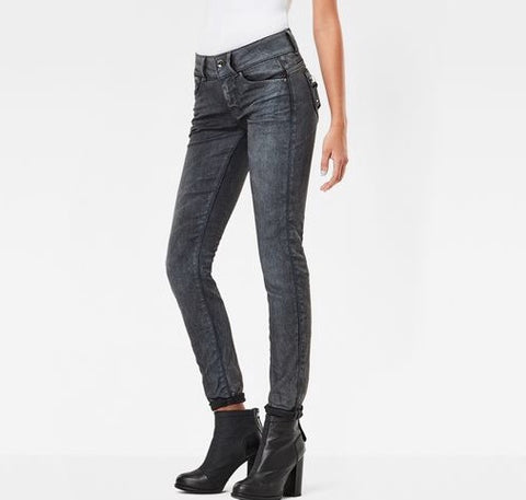 G-Star Denim LYNN LUNAR Mid-Skinny Waist Woman's Jeans Medium Aged