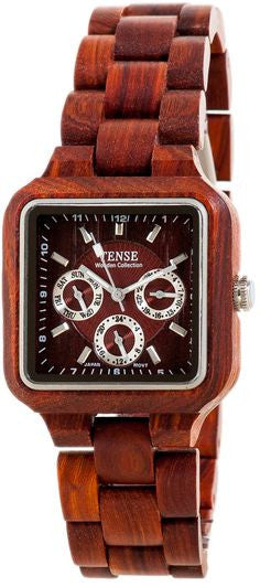 Tense Men's Wooden Watch Summit - Rosewood