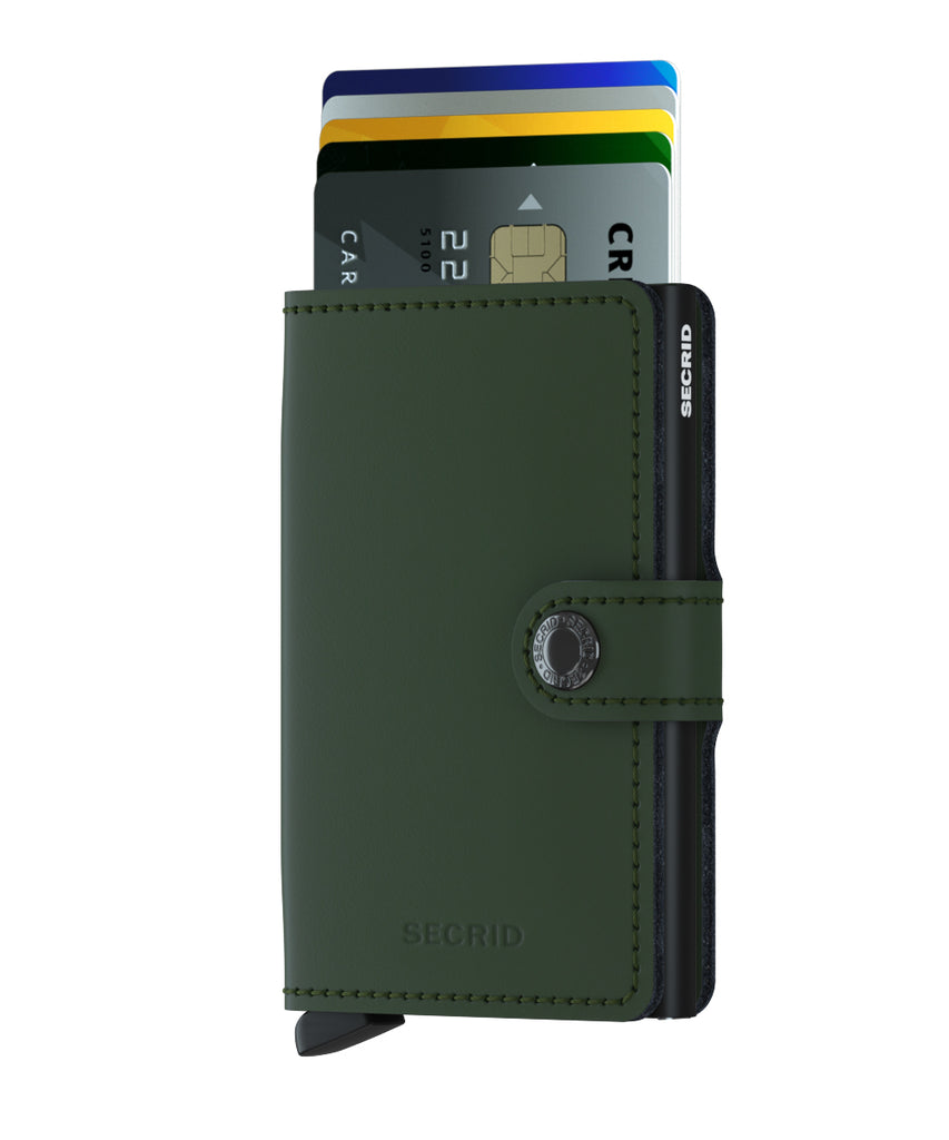 Secrid Miniwallet MATTE GREEN-BLACK RFID Secure Wallet-Authorized Dealer-mini-wallet