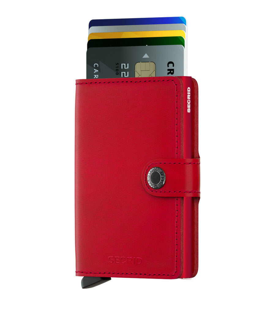 Secrid Miniwallet Original Red-Red Wallet RFID Secure-Authorized Dealer mini-wallet Leather