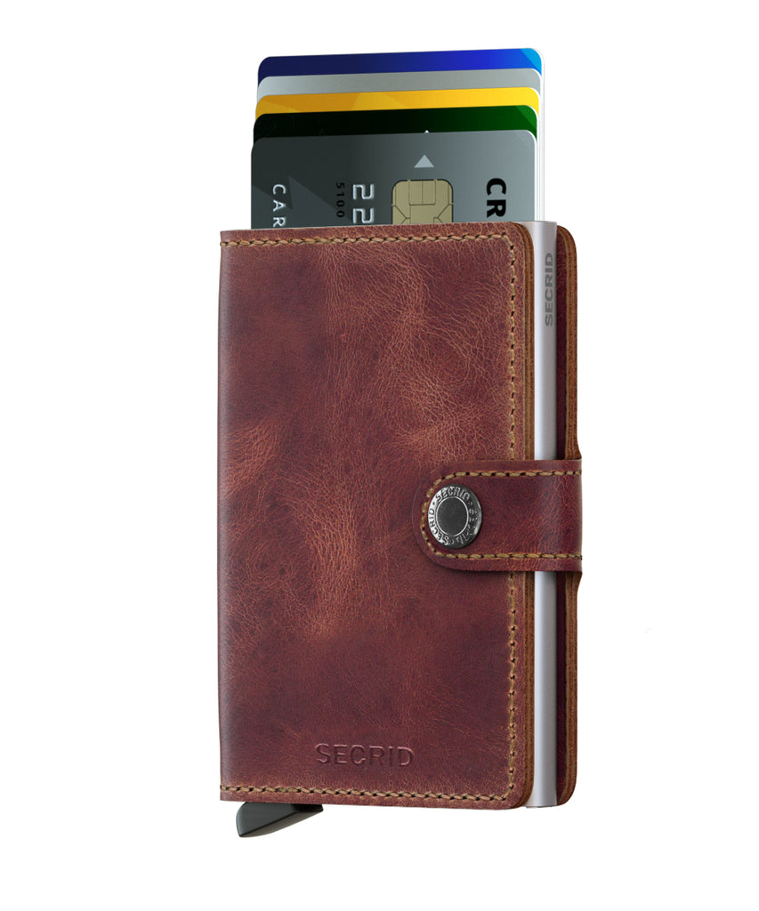 Secrid Wallet RFID Secure MINIWALLET Vintage Brown-Authorized Dealer mini-wallet Leather