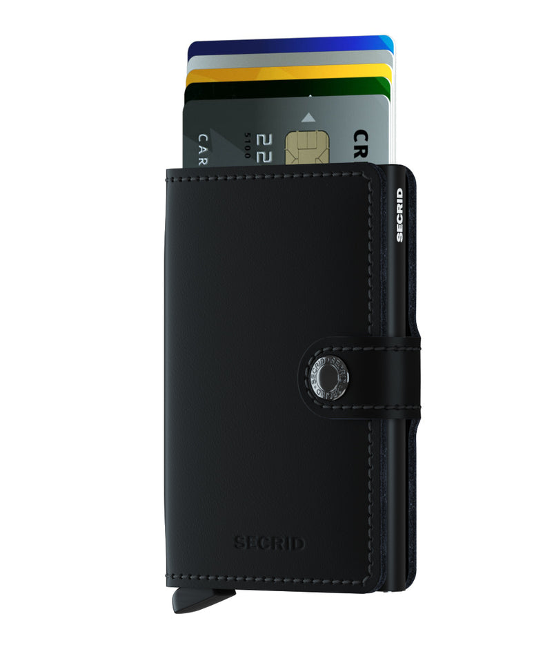 Secrid Miniwallet Matte Black  RFID Secure Wallet Mini Authorized Dealer-mini-wallet Leather