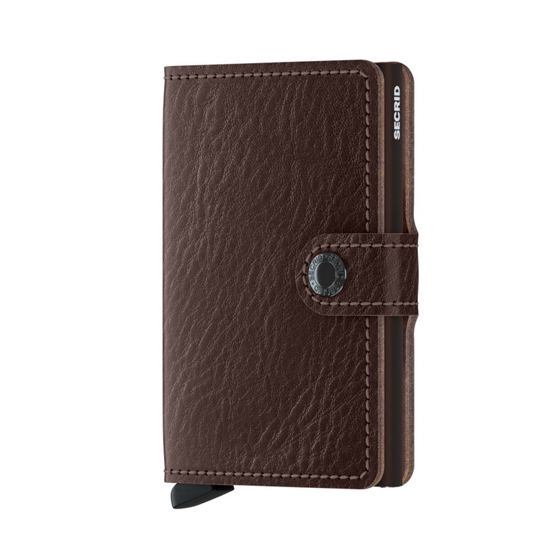 Secrid Miniwallet Veg Espresso/Brown RFID Secure Wallet Mini Authorized Dealer Leather
