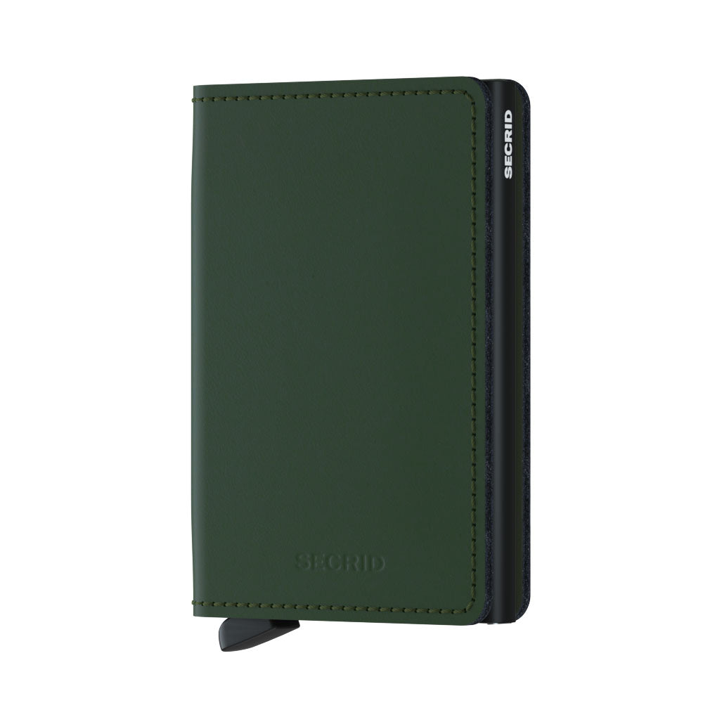 Secrid Slimwallet MATTE GREEN-BLACK RFID Secure Wallet-authorized dealer Leather