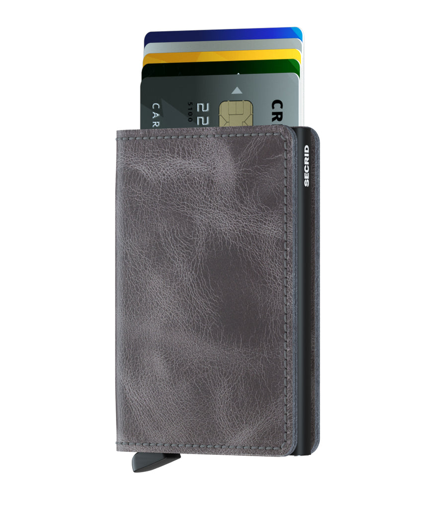 Secrid Slimwallet RFID Secure Vintage Grey-Black Wallet-Leather-AUTHORIZED DEALER-slim-wallet