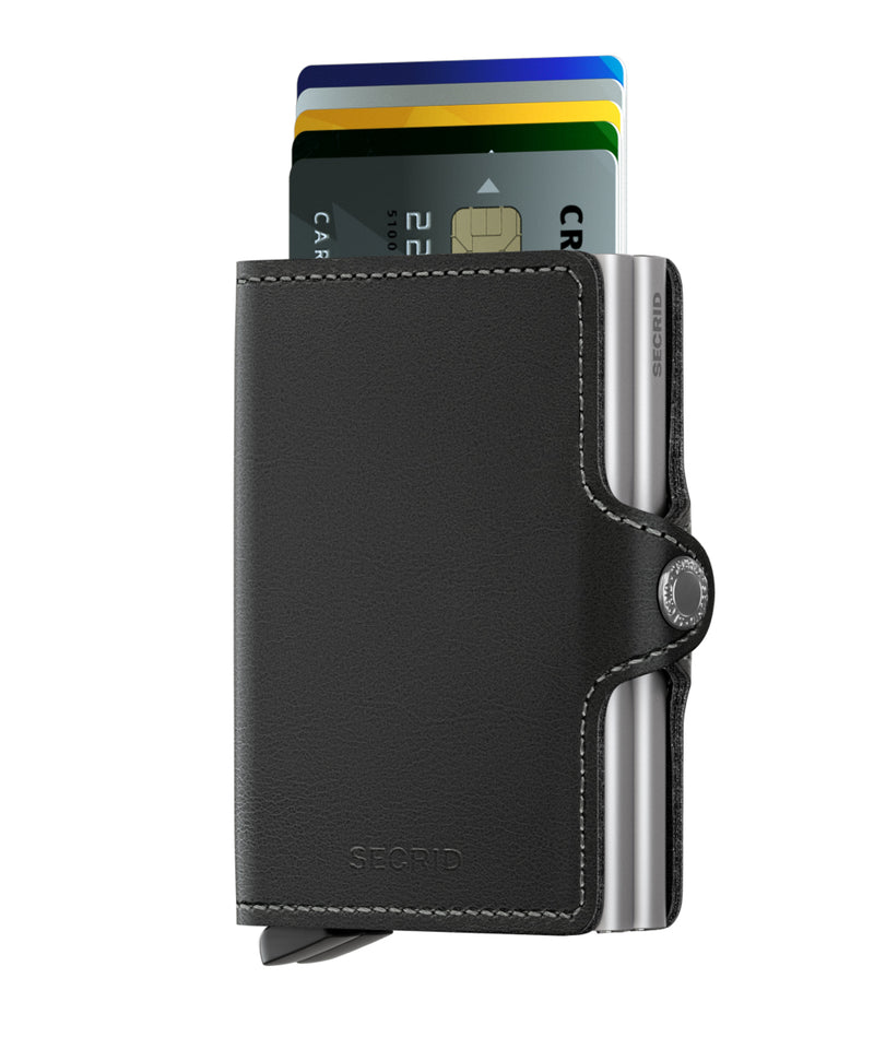 Twin Wallet Original Black RFID Secure Twinwallet-Authorized Dealer Leather