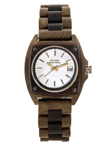 Tense Men's Wooden Watch Trail - Walnut/Dark Sandalwood