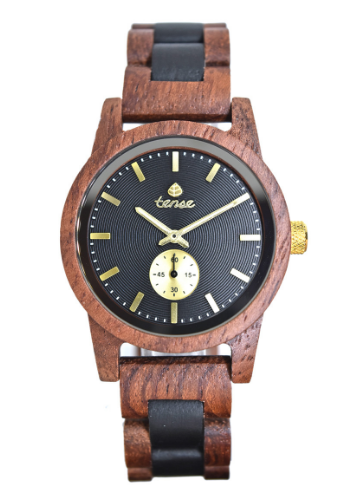 Tense Men's Wooden Watch Hampton - Rosewood/Dark Sandalwood