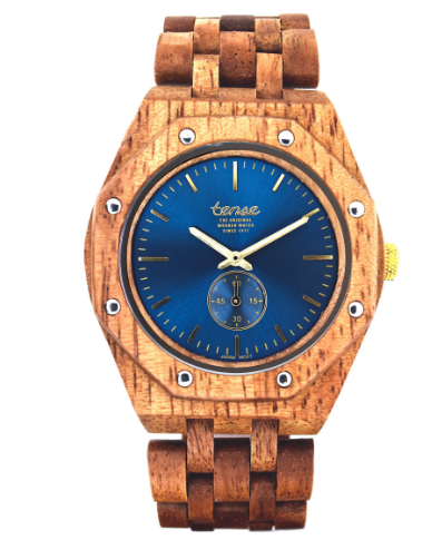 Tense Men's Wooden Watch Washington North -Butternut