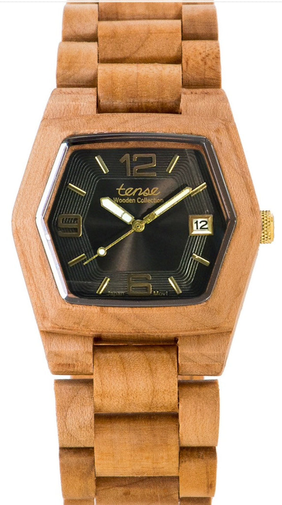 Tense Wooden Watch Kootenay - Maplewood