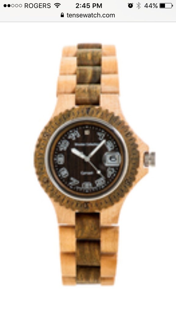 Tense Men's Wooden Watch Compass