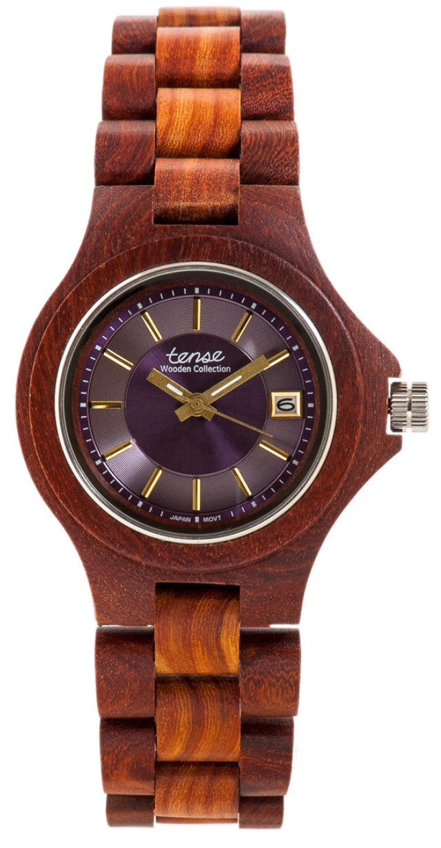 Tense Men's Wooden Watch Metro - Rosewood