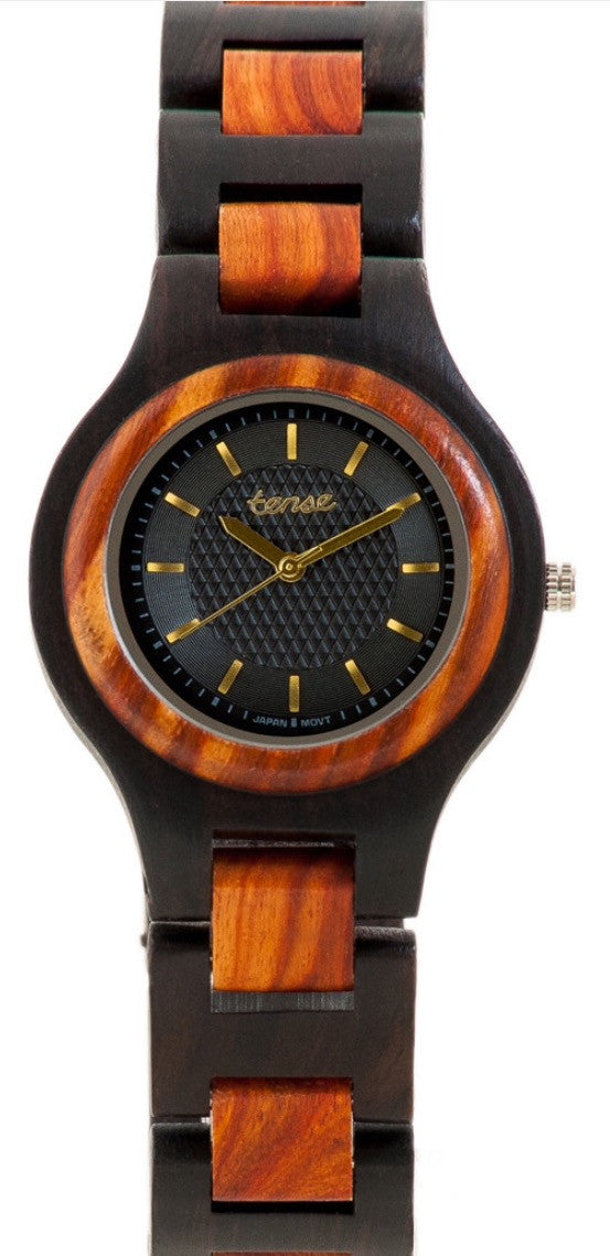 Tense Ladies Wooden Watch Pacific - Dark Sandalwood/Rosewood