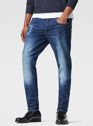 G-STAR 3301 Slim Jeans - Blue Aged