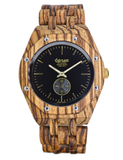 Tense Men's Wooden Watch Washington North - Zebrawood
