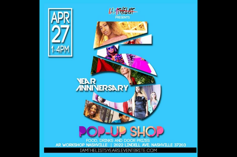 I AM THE LIST  Celebrates 5 Year Anniversary With Pop-up Shop April 27th