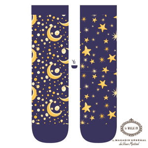 Bas Amusants Motifs Astrologie / Astrology Stars Moon, Planet.ladies socks - Le Walk-in MGVM