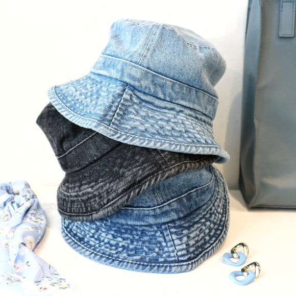 Chapeau Bucket de denim (Trois couleurs) / Denim Bucket Hat (Three colors)