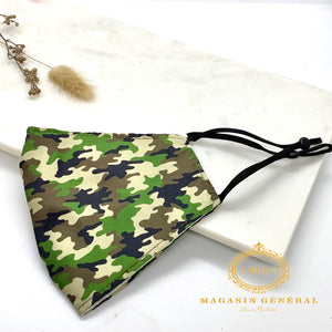 Masque Confortable Motif Mini Camouflage