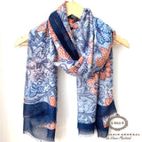 Foulard Collection Le Marais Bordure Bleu - Le Walk-in MGVM