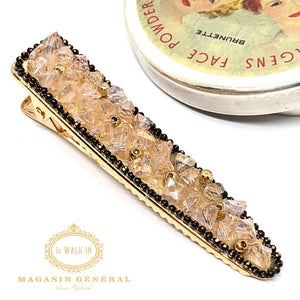 Barrette chic cristaux de verre rose tendre - Le Walk-in MGVM