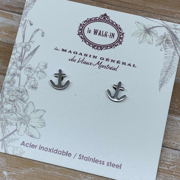Boucles Tiny minis Ancre Nautique / anchor - Le Walk-in MGVM