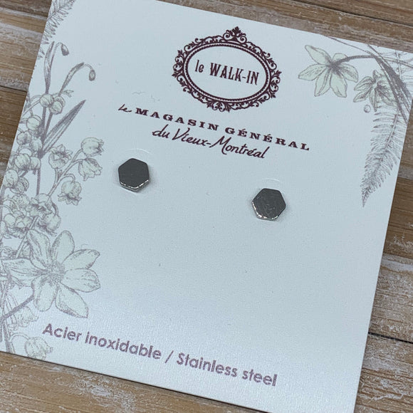 Boucles Tiny minis acier inoxydable hexagone /exagon shape - Le Walk-in MGVM