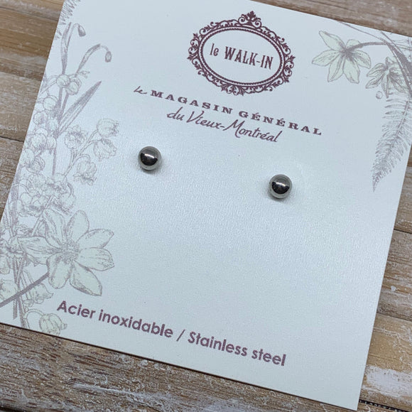 Boucles Tiny minis acier inoxydable boule 3.5mm - Le Walk-in MGVM