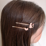 Barrette Duo Bobby Pins chat et coeur - Le Walk-in MGVM