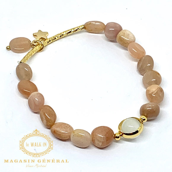 Bracelet l'étoile d'Esperanza rose / blush pink-mixed natural beaded bracelet - Le Walk-in MGVM
