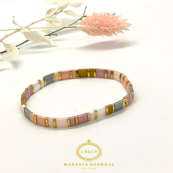 Bracelet with Multicolor Glass Beads
