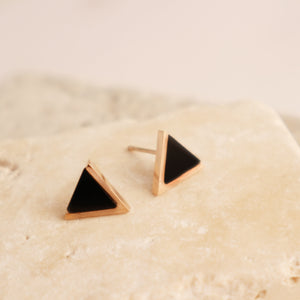Boucles d'oreilles Triangle Plaqué Or Rose - Le Walk-in MGVM