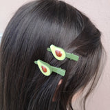 Pince à cheveux ludique avocat 1 ou ensemble de 2, avocado hairclip - Le Walk-in MGVM
