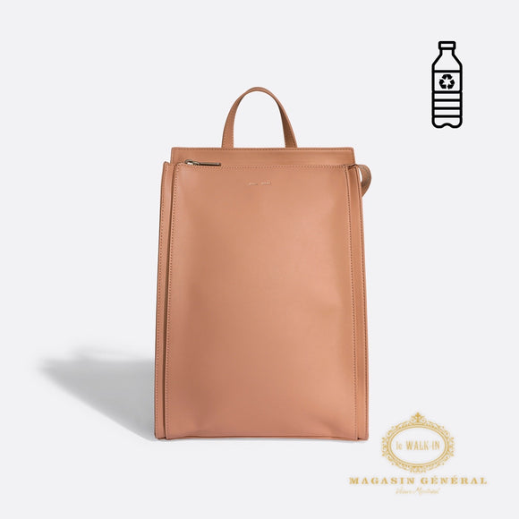Sac à Dos sur 1 ou 2 épaules Abricot / Clean design backpack Apricot
