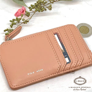 Porte-Cartes et Monnaie Format Parfait Abricot / Slim Profile Card Holder - Le Walk-in MGVM