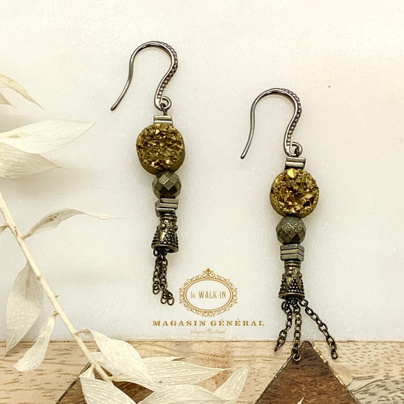 Boucles GOLD RUSH par Julie Bessette