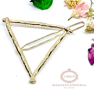 Barrette triangle or inspiration bambou - Le Walk-in MGVM