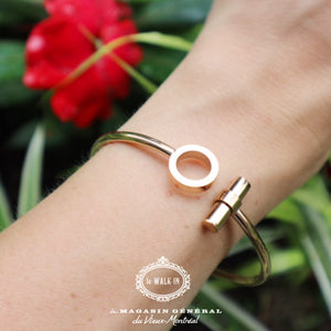 Bracelet Twist Géo Plaqué Or Rose - Le Walk-in MGVM