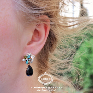Boucles d'oreilles Upper East Side Noir - Le Walk-in MGVM