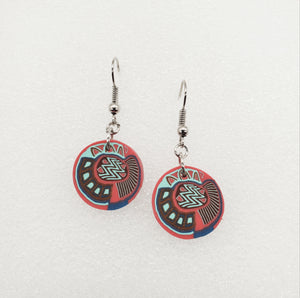 Lili Cane Disk Earrings