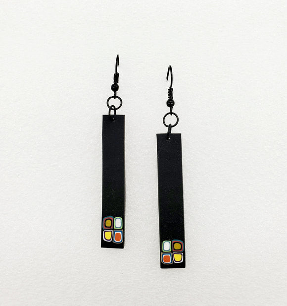 Klimt Inspired Long Slim Dangles