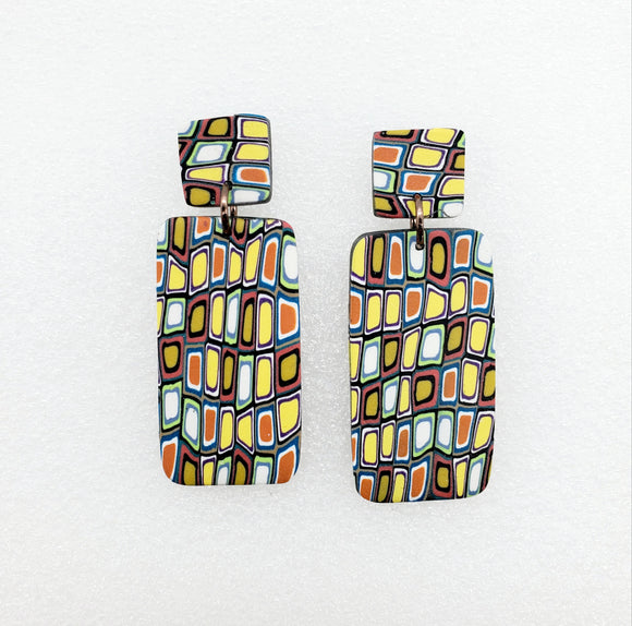 Klimt Inspired Large Dangles