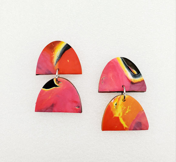 Flame Abstract Earrings