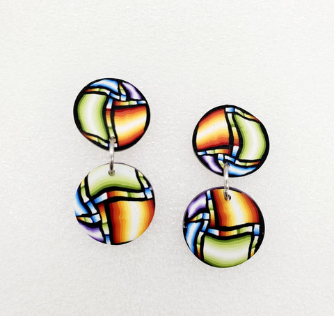 Guatemalan Quatro Cane Earrings