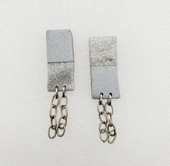 Ava Long Stud Earrings