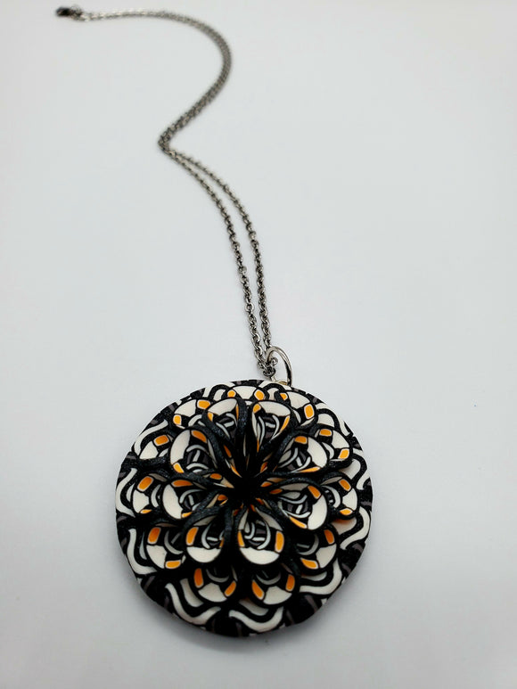 Kaleidoscope Cane 3D Pendant Necklace