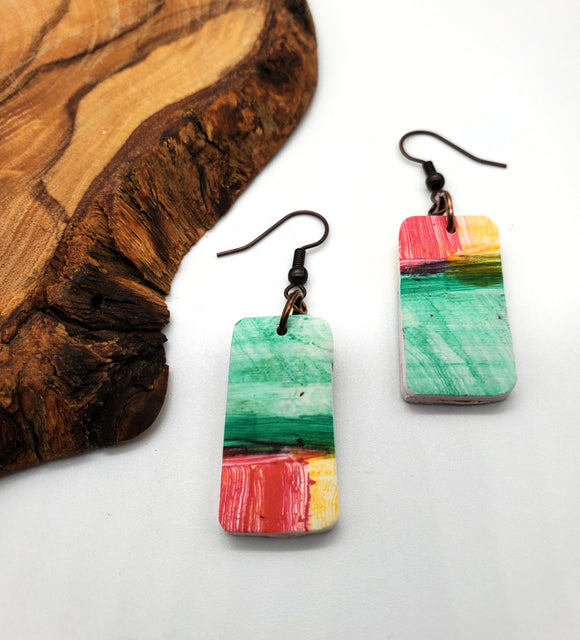 Vernazza Rectangular Earrings